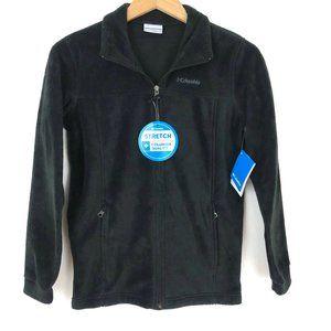 Columbia Black Fleece Full Zip Jacket Boys L 14-16